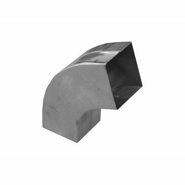 Zinc 80x80mm Downpipe - 72º Bend