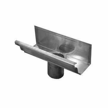 Zinc Large Ogee Running Outlet - 80 ø - 152mm x 130mm