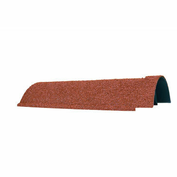 Red Granulated Lightweight Ridge Tile