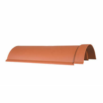 Smooth Red Budget Lightweight Ridge Tile