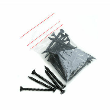 Lightweight Tiles Plastic Coated Fixing Screws - Black