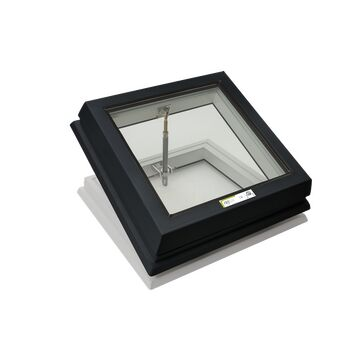 RX S2 Raylux Glass Rooflight (Manual Spindle) - 500 x 500mm (150mm Upstand)