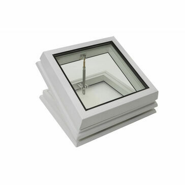 RX S9 Raylux Glass White Rooflight (Manual Spindle) - 1000 x 1000mm