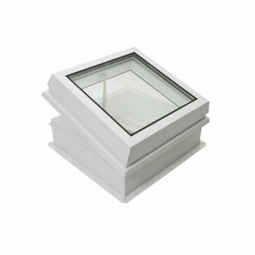 RX S7 Raylux Glass White Rooflight (Manual Spindle) - 800 x 800mm (150mm Upstand)