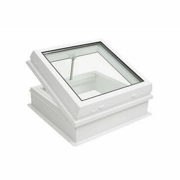 RX S7 Raylux Glass White Rooflight (Wall Switch) - 800 x 800mm (150mm Upstand)