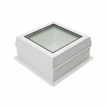 RX S4 Raylux Glass White Rooflight - 600 x 600mm (150mm Upstand)