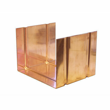 Copper Large Box Gutter - Joint - 120mm x 90mm