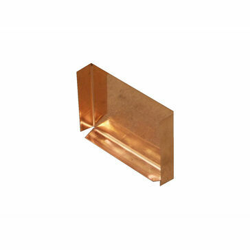 Copper Large Box Gutter - Stop End - 120mm x 90mm