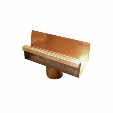 Copper Large Box Running Outlet - 100 ø Spigot - 120mm x 90mm