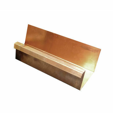 Copper Standard Box Gutter - 2400mm Length