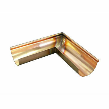 Copper Standard Half Round Corner - Special Angle External - 125mm x 70mm