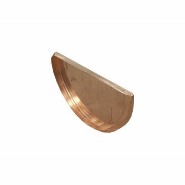 Copper Standard Half Round Gutter - Stop End - 125mm x 70mm