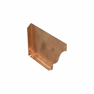 Copper Standard Ogee Gutter - Stop End Right - 127mm x 98mm