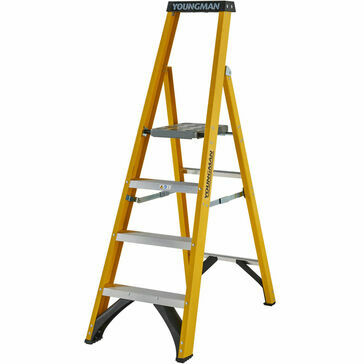Youngmans S400 Fibreglass Platform Stepladder