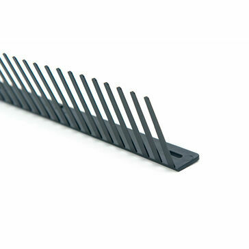 Timloc Eaves Comb Filler For Profiled Roof Tiles (1m) - Black (Pack of 50)