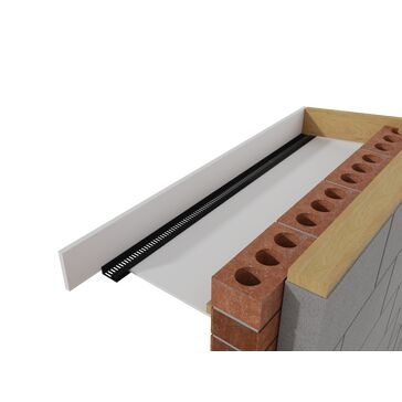 Roof soffit strip vent type C 25mm airflow 2.4m - Pack of 10