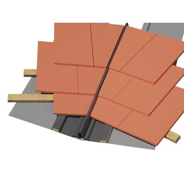 Timloc Dry Fix GRP Universal Valley Trough for Slate & Tiles - Pack of 10