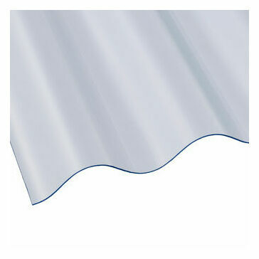 Vistalux PVC Superweight Corrugated Roof Sheet (Profile 6) - 2440mm x 1086mm x 1.3mm