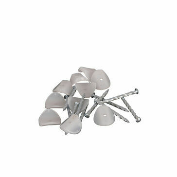 Corolux Miniature Profile PVC Roofing Sheet Fixings (Pack of 10)