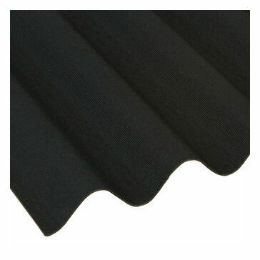 Coroline Corrugated Bitumen Roofing Sheet (Black) - 2000mm x 950mm
