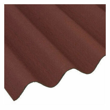 Onduline Corrugated Bitumen Roofing Sheet (Red) - 2000mm x 950mm