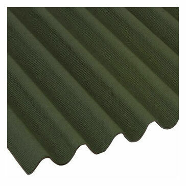 Onduline Bitumous Corrugated Mini Roofing Sheet Green 2000mm x 866mm