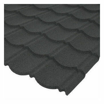 Corotile Metal Lightweight Roofing Sheets Charcoal Grey 1140mm x 860mm