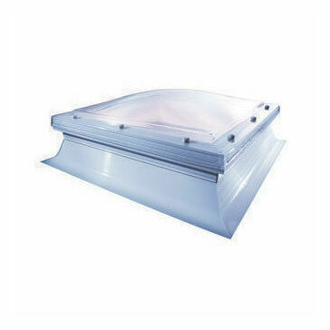 Mardome Polycarbonate Rooflights Double Glazed Fixed Dome with PVC Kerb 900mmx900mm