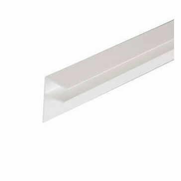 Corotherm Polycarbonate 10mm pvc Side Flashing  White 3000mm