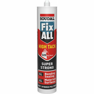 Soudal Fix ALL High Tack (Grey) - Buy 10 Get 2 Extra FREE (BS329-CASE)