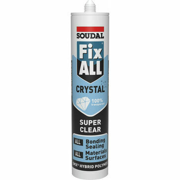 Soudal Fix ALL Crystal Sealant & Adhesive (290ml) - Clear (118779)