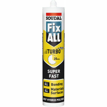 Soudal Fix ALL Turbo Sealant & Adhesive (White) - 290ml (BS338)