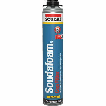 Soudal Soudafoam Expanding Foam Gap Filler Hand Held (500ml) - Champagne - Box of 12 (131553)