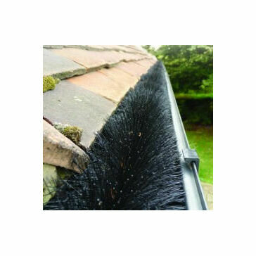 Hedgehog Gutter Brush 150mm Dia.4m Black