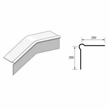 Eternit Cranked crown roll top barge board - 200x1050