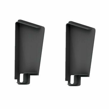 Kytun Standard Tile Dry Verge End Cap (pair) Black