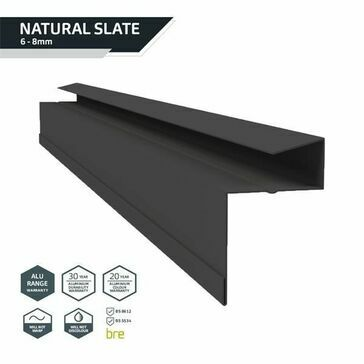 Kytun Retro-Fit Slate Dry Verge Aluminium 25mm (4 per pack) length 2400mm
