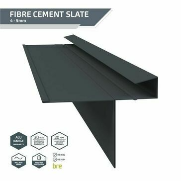 Kytun Slate Dry Verge PVC (T2) Black (8 per pack) length 2400mm