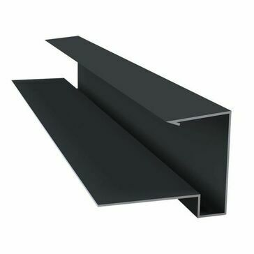 Kytun Tile Dry Verge System PVC Black 2.4m (4 per pack) length 2400mm