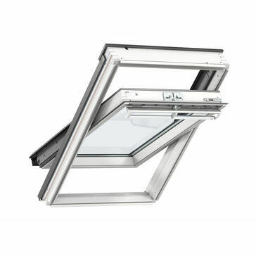 VELUX GGL CK06 2070 White Painted Centre Pivot Window - 55cm x 118cm