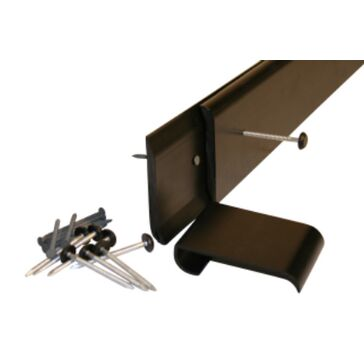 Anthracite Gutter Trim (C/W Clips & Fixings) 2.5m Length