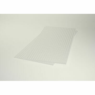 Corotherm Clickfit Easy Fit Polycarbonate Roofing Panel (Clear) - 3000mm x 500mm x 16mm