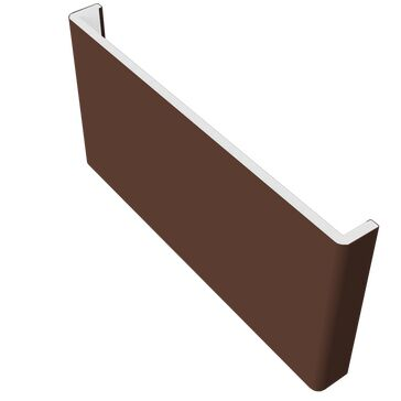 Freefoam Double Ended Plain Fascia (10mm thick) - Leather Brown 5m