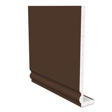 Freefoam Ogee Fascia (10mm thick) - Leather Brown 5m