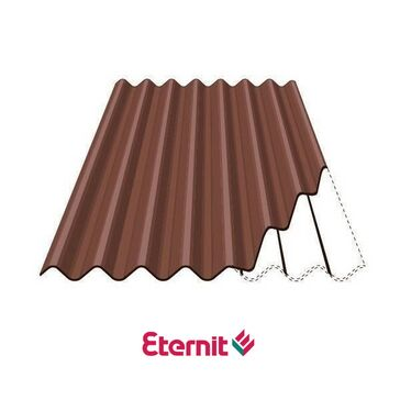 Eternit Profile 6 Fibre Cement Roofing Sheets - Tawny Brown