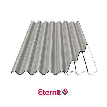 Eternit Profile 6 Corrugated Fibre Cement Roofing Sheets - Cloud Grey