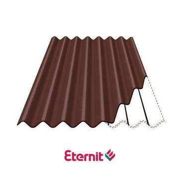 Eternit Profile 6 Corrugated Fibre Cement Roofing Sheets - Brown