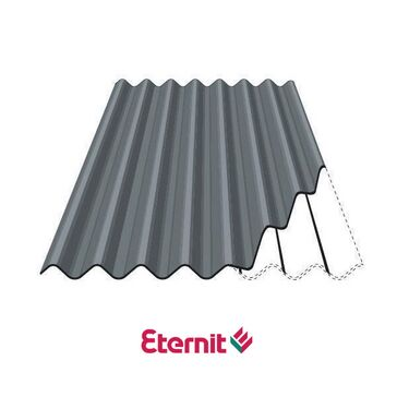 Eternit Profile 6 Fibre Cement Roofing Sheets - Gunmetal Grey