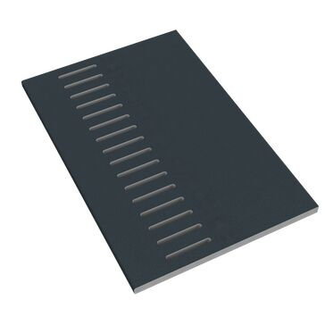 Freefoam 10mm Solid Soffit Vented General Purpose Board - Woodgrain Anthracite Grey (5000mm x 605mm)