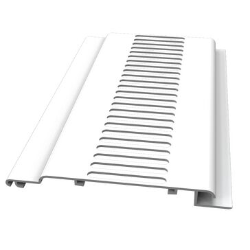 Freefoam 100mm Hollow Soffit Tongue & Groove Strip Vent - White (5m)
